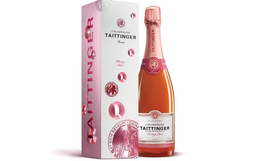 Champaña Taittinger Brut Prestige Rosé, ideal para celebrar